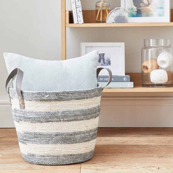 Maize Rope Storage Basket Natural