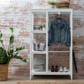 Lynton Compact White Open Wardrobe