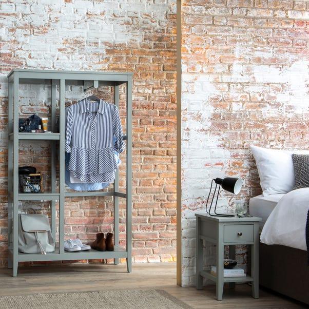 Lynton Compact Grey Open Wardrobe
