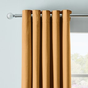 Arizona Mustard Blackout Eyelet Curtains