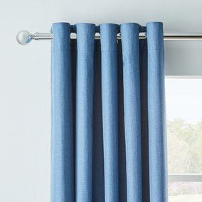 Arizona Chambray Blackout Eyelet Curtains