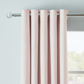 Arizona Pink Blackout Eyelet Curtains