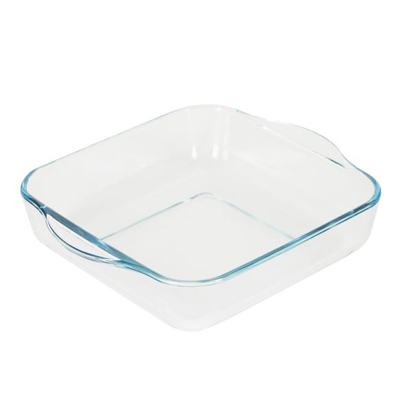 Dunelm 22cm Square Oven Roasting Dish Clear