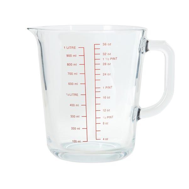 Dunelm 1 Litre Measuring Jug Clear