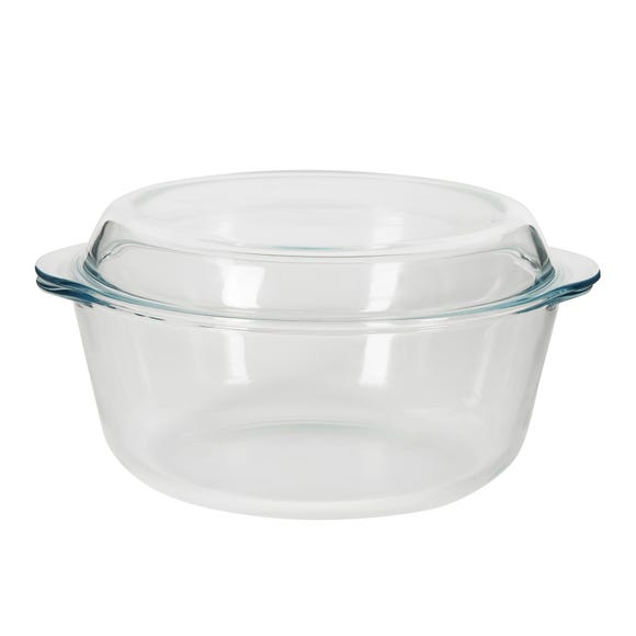 Dunelm 3L Casserole Dish with Lid Clear