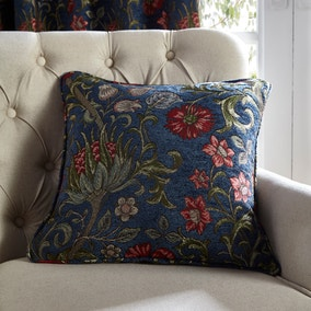 Betsy Chenille Jacquard Navy Cushion