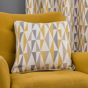 Triangle Chenille Jacquard Ochre Cushion