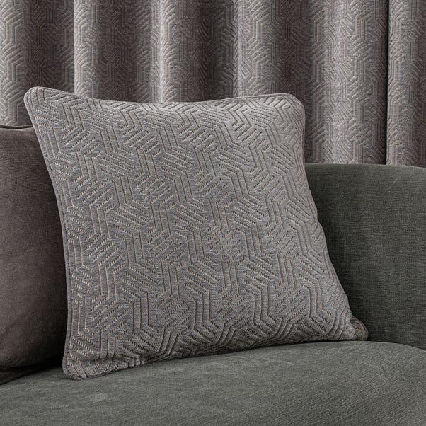 Abstract Chenille Dove Grey Cushion Dove (Grey)
