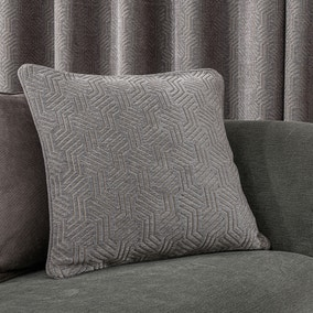 Abstract Chenille Dove Grey Cushion