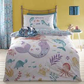 Under the Sea Reversible Duvet Cover and Pillowcase Set