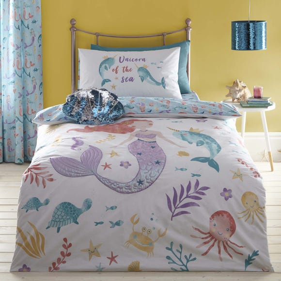 Under the Sea Reversible Duvet Cover and Pillowcase Set MultiColoured undefined