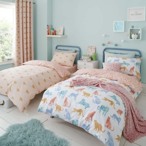 Big Cats Reversible Twin Pack Duvet Cover and Pillowcase Set