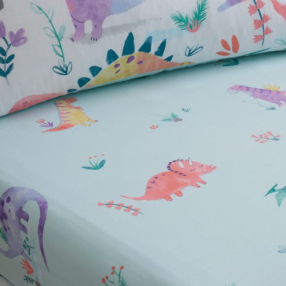 Dinosaur Pink Fitted Sheet Pink undefined