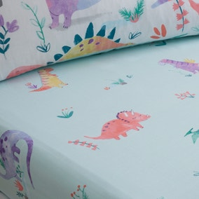Dinosaur Pink Fitted Sheet