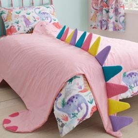 Dinosaur Pink 3D Bedspread