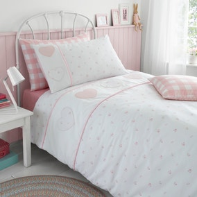 Patchwork Hearts Duvet Cover and Pillowcase Set