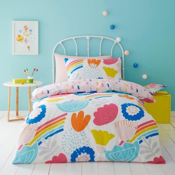 Elements Floral 100% Cotton Reversible Duvet Cover and Pillowcase Set  undefined