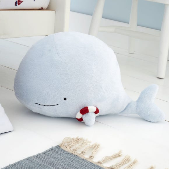 Plain Sailing Whale Plush Blue