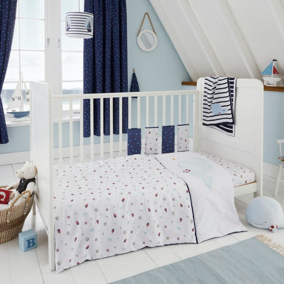Plain Sailing 100% Cotton 4 Tog Cot Quilt Navy undefined