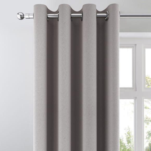 Chicago Silver Jacquard Blackout Eyelet Curtains Silver undefined