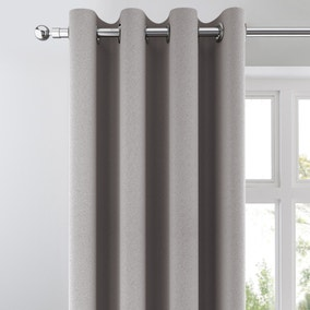 Chicago Silver Jacquard Blackout Eyelet Curtains