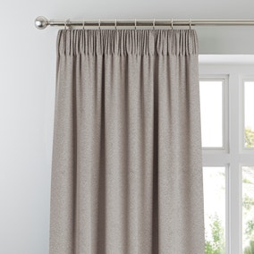 Chicago Silver Jacquard Blackout Pencil Pleat Curtains