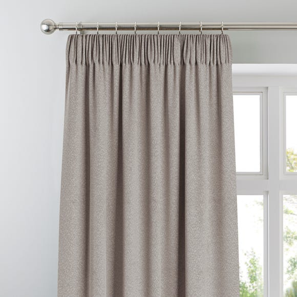 Chicago Silver Jacquard Blackout Pencil Pleat Curtains  undefined