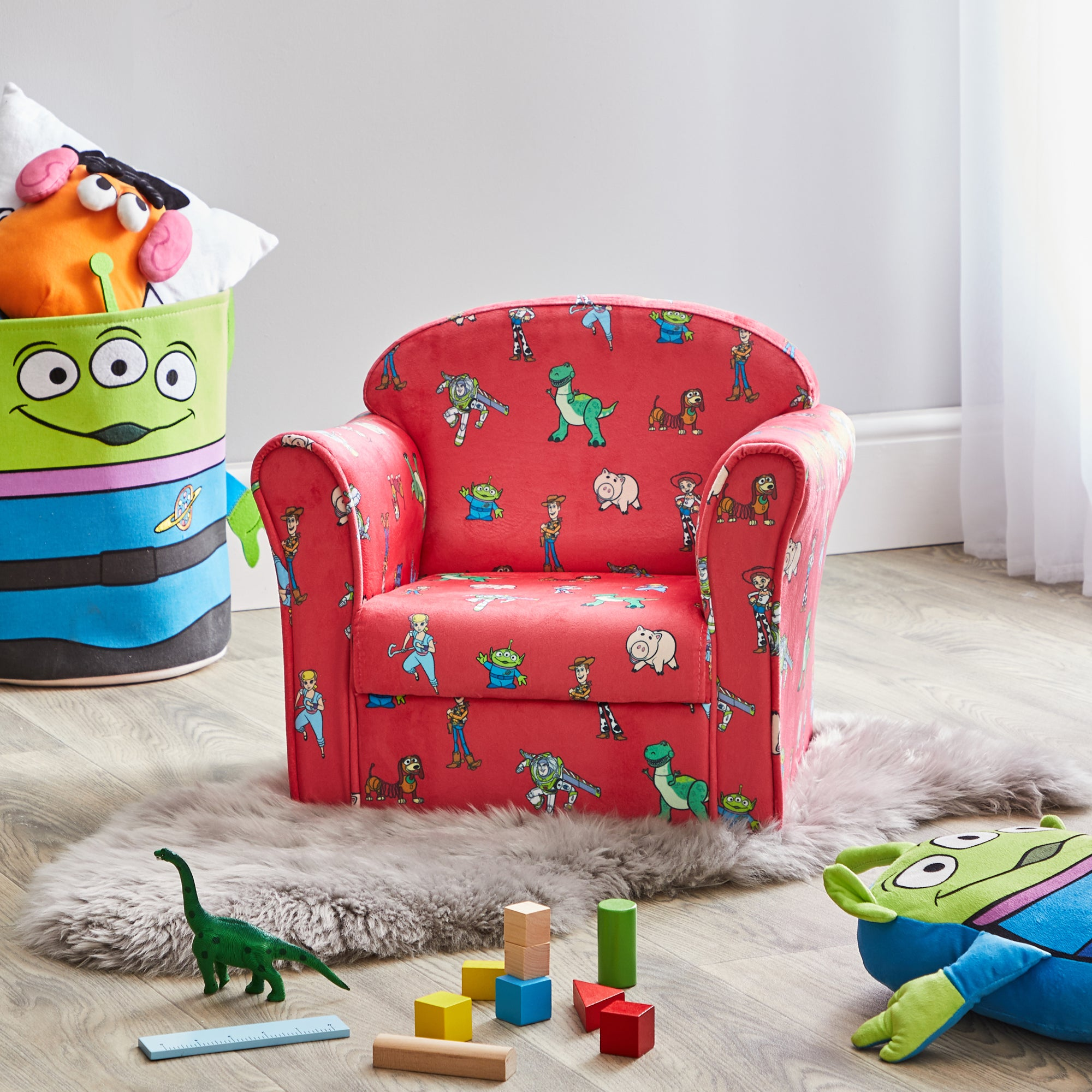 Kids Disney Toy Story Armchair Red