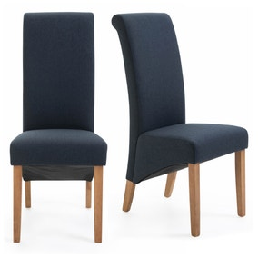 Chester Set of 2 Dining Chairs Ink Herringbone
