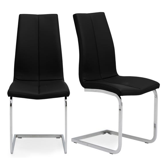 Jamison Set of 2 Dining Chairs Black PU Leather