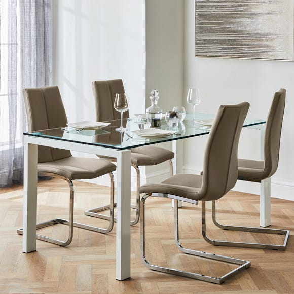 Jamison Set of 2 Dining Chairs Mink PU Leather