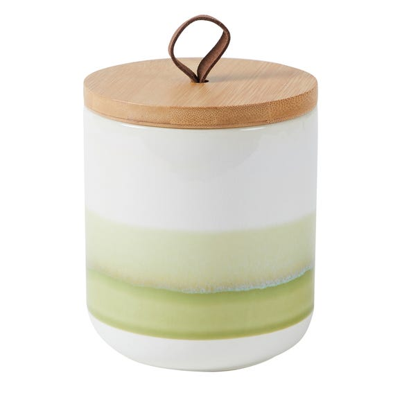 Green Reactive Glaze Small Kitchen Canister Green