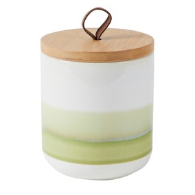 Green Reactive Glaze Small Kitchen Canister
