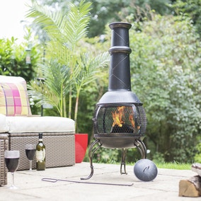 Traditional Bronze Steel Chimenea