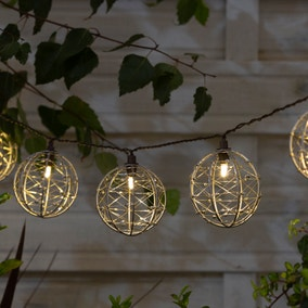 10 LED Jewelled Ball Outdoor String Lights