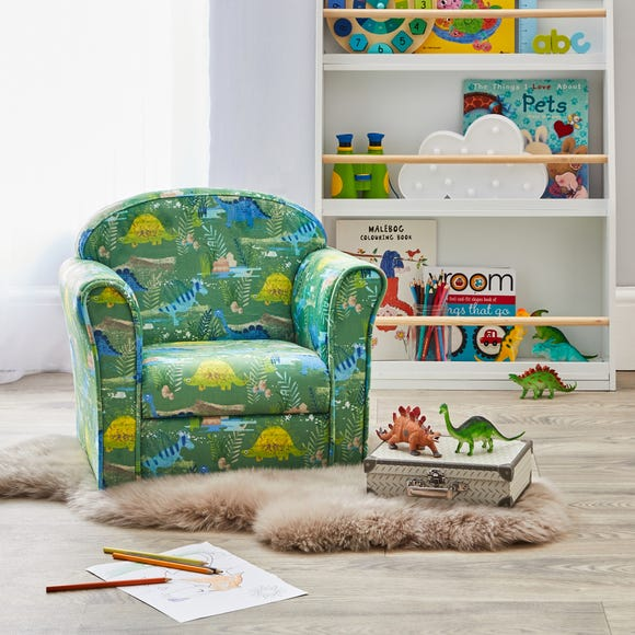 Kids Roar Dinosaurs Armchair Green
