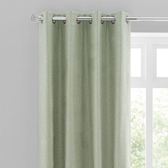 Luna Brushed Sage Blackout Eyelet, What Colour Curtains With Sage Green Walls