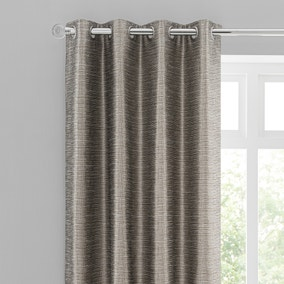 Eastern Escape Metallic Jacquard Champagne Eyelet Curtains