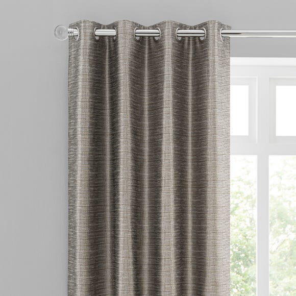 Eastern Escape Metallic Jacquard Champagne Eyelet Curtains Champagne undefined