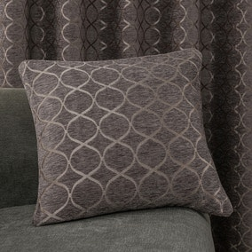 Chenille Ogee Charcoal Cushion