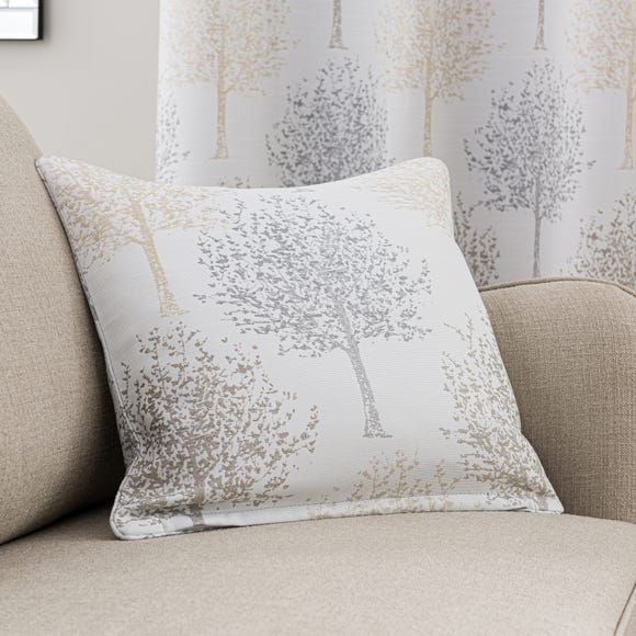 Jacquard Trees Dove Grey Cushion Dove (Grey)