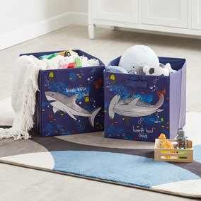 Sharks Twin Pack Storage Boxes