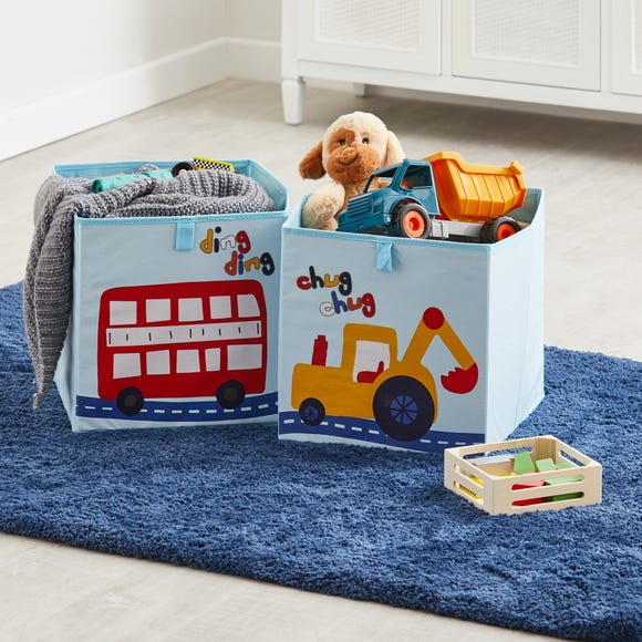 Transport Twin Pack Storage Boxes MultiColoured