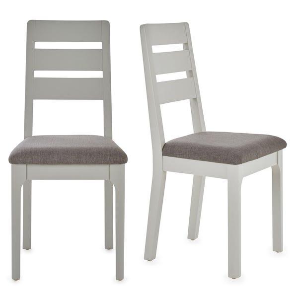 Freya Set Of 2 Dining Chairs Grey Grey