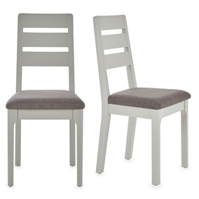 Freya Set Of 2 Dining Chairs Grey