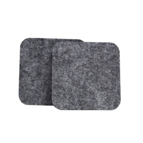 Pack of 2 Square Felt Grey Coasters