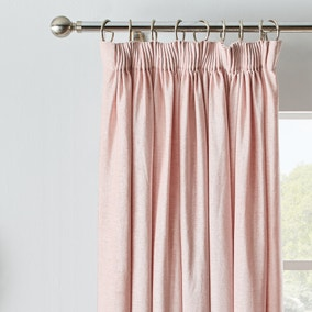 Chenille Blush Blackout Pencil Pleat Curtains