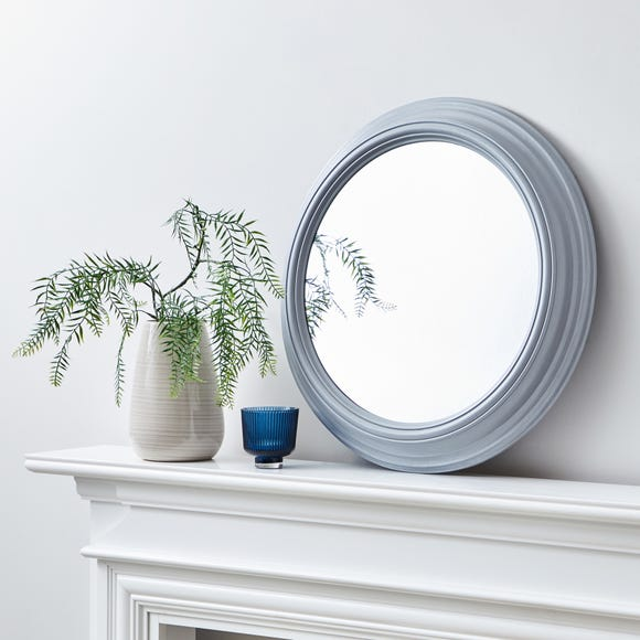 Round Wall Mirror 59cm Grey Grey
