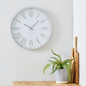 Churchgate 45cm Wall Clock Mauve