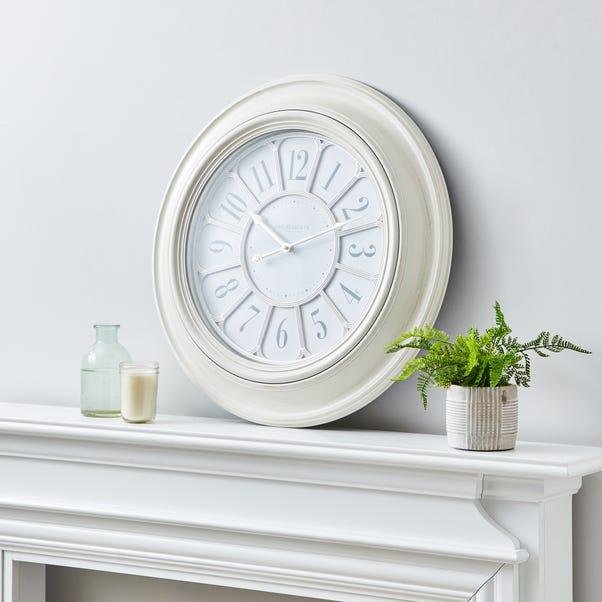 Classic 60cm Wall Clock Cream Cream